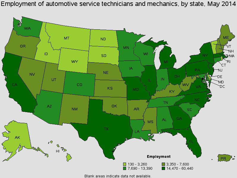 auto-mechanic-employment-by-state